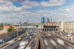 Moscow highway third ring Stock Photos