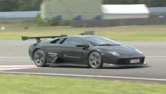 Lamborghini Murcielago on track Stock Footage