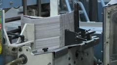 NEWSPAPER MAGAZINE PRINT PRINTING PRESS FACTORY  HD 1080 Stock Footage