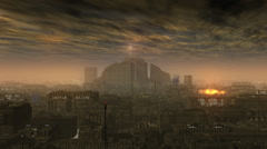 Smog City, Future Backdrop - stock footage