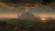 Stock Video Footage of Smog City, Future Backdrop