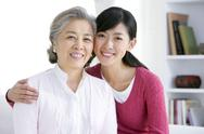 Stock Photo of Chinese woman with adult daughter