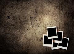 Vintage instant photo Stock Photos