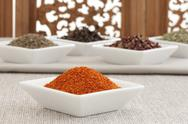 Close-up of different spices Stock Photos