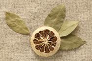 Bay Leaf and dry lemon Stock Photos