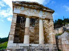 Stock Photo of athenian treasury, delphi, greece