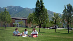 High School Students Hang Out After Class Stock Footage