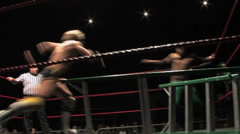 Wrestling Move: Backflip DDT Stock Footage