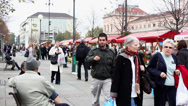 Stock Video Footage of Bazaar at Kralja Tomislava Street, Zagreb