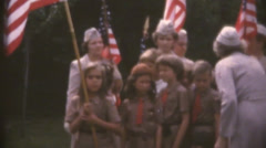 Vintage  movies 8mm, girl scouts, brownies Stock Footage