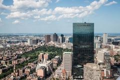 Cityscape view of downtown boston Stock Photos
