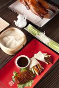 Close-up of Peking roasted duck - stock photo