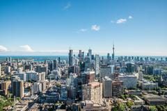 Scenic view of downtown toronto Stock Photos