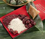 Stock Photo of Zongzi and its ingredients