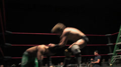 Pro Wrestling Match Brawling Stock Footage