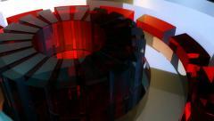 Glass gear machine Stock Footage