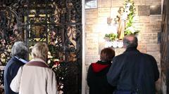 Kamenita Vrata-Stone Gate, Zagreb Stock Footage