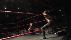 Pro Wrestling Move: Stone Cold Stunner / Cutter - stock footage