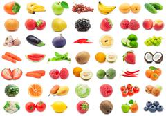Fruits and Vegetables - stock illustration