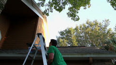 Cleaning Gutters Time Lapse Stock Footage
