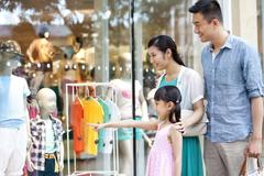 Family shopping in department store Stock Photos
