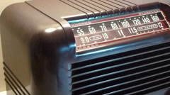 Using the old 40s Tube Radio Stock Footage