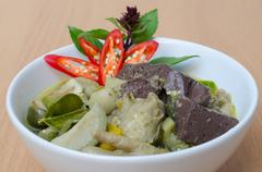 Thai food chicken green curry - stock photo