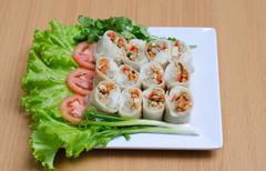 """Vietnam food name """"salad roll Stock Photos"""