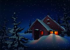 Christmas Night Stock Illustration