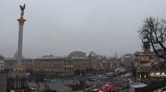Independence square, Kiev, Ukraine - stock footage