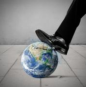 Destruction of the world. world provided by nasa Stock Illustration