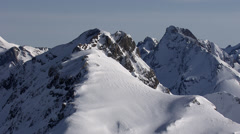 Aerial Shot in the Alps - stock footage