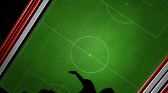 Football_motion_graphics Stock Footage