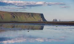 Vik rocks in Iceland - stock photo