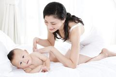 Maternal love never changes Stock Photos