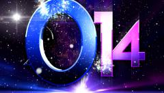 Fireworks Color Whell 2014 design 10 Stock Footage