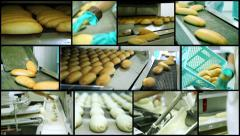 Bread Making - Montage Stock Footage