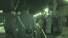 Pope Francis secret visit to convent 9 (Infrared Night Vision) Stock Footage