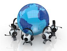 Internet global communications Stock Illustration