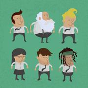 Stock Illustration of 1 group of business men charactor, women , eps10 vector format