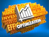 Stock Illustration of Optimization. Wordcloud Concept.
