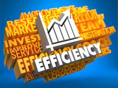 Stock Illustration of Concept of Growth Efficiency.