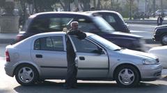 Taxi Baku Stock Footage
