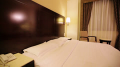 Interior of hotel room Stock Footage