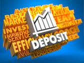 Stock Illustration of Deposit. Wordcloud Concept.