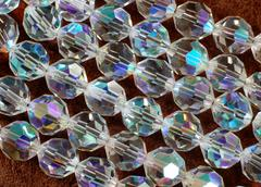 facetted glass beads in style of the fifties - stock photo