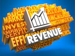 Revenue. Wordcloud Concept. Stock Illustration