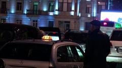 Taxi in the dark Baku Stock Footage