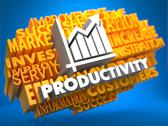 Stock Illustration of Productivity. Wordcloud Concept.