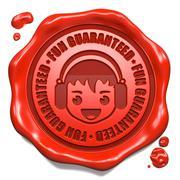 Fun Guaranteed - Red Wax Seal. Stock Illustration